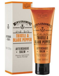 Aftershave Balm Thistle & Black Pepper Balsam - THE SCOTTISH FINE SOAPS COMPANY