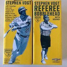 Oakland Athletics A's STEPHEN VOGT SOUND CHIP TALKING REFEREE BOBBLEHEAD SGA NEW