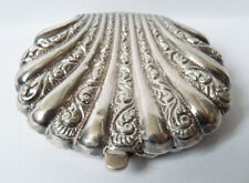 Boite tabatière en argent massif vers 1900 silver snuff box Morteveille