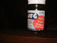 Vintage JFG Mello Made Peanut Butter - Half Pound Jar