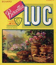 BUVARD PUBLICITAIRE / BISCOTTES LUC / CHATEAUROUX / TABLEAUX / PAYSAGE
