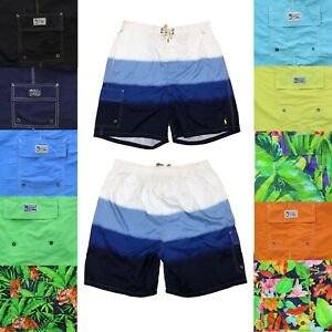 Polo Ralph Lauren Mens Big and Tall Lined Swimsuit Shorts Swim Trunks Solids
