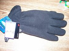 NEW WITH TAGS MENS DORFMAN PACIFIC THINSULATE 40 GRAM BLACK GLOVES SIZE S/M