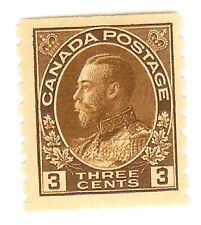 Canada - George V - 3 Cent brown Coil - MH - Scott.129