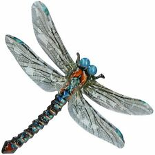 Blue Metal Dragonfly Garden/Home Wall Art Ornament 35x28cm Inddor/Outdoor