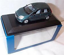 Ford fiesta MK5 5 Puertas Metálico Verde 1-43 SCLAE Minichamps Nuevo en caja en caso