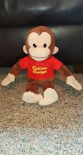 "Curious George Applause Stuffed Plush Animal Toy 16"" with Red Shirt"