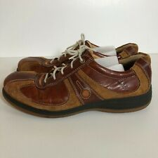 Mens Ecco Yak Shoes Brown Leather Lace Up Oxfords Size 12 12.5 EU 46 Casual