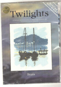 Boats Heritage Twilights Counted Cross Stitch Kit 28 Count NEW