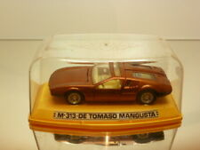 PILEN M313 DE TOMASO MANGUSTA - COPPER METALLIC 1:43 - VERY GOOD IN SHOW-CASE
