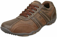 Mens Brand New Brown Lace Up Casual Leisure Trainers Size 6 7 8 9 10 11 12
