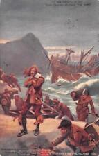 ENGLAND COLONIZATION OF BERMUDA GEORGE SUMMERS SHIP MILITARY POSTCARD (c. 1908)