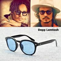 83cdbfbaf88 Vintage Clear Tinted Lens Johnny Depp Glasses Fashion Frame Retro Sunglasses  Men