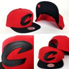 Mitchell & Ness NBA Cleveland Cavaliers Red / Black Metal Logo Snapback Hat Cap