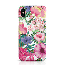 WHITE BRIGHT FLOWER PATTERN PINK FLORAL CASE FOR APPLE IPHONE MOBILE PHONES