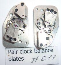 Matching pair of russian vintage clock balance plates wheels Steampunk art #011