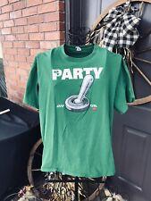 Men's Green Vintage Graphic T-Shirt