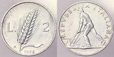 2 LIRE 1948 REPUBBLICA ITALIANA ITALY SPIGA #8477