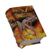 Dinossauros in Portuguese capa dura de livro em miniatura ilustrado mini book