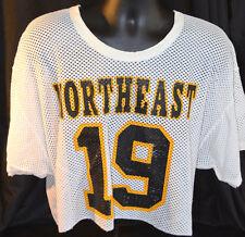 Rare Vtg NORTHEAST HIGH SCHOOL Football 1/2 Jersey MARYLAND Mesh USA MADE 70-80s