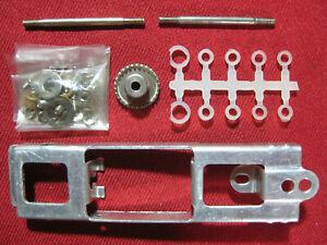 Vintage 1960s Slot Car Racing 1/24 Chassis Spare Parts Set Tokyo Plamo Type P
