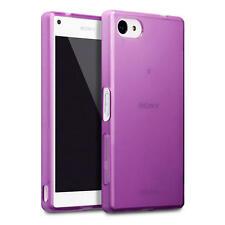 Fin Housse Étui En Gel De Caoutchouc pour Sony Xperia Z5 Compacte - Violet