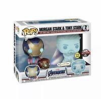 Marvel - Avengers: Endgame Morgan & Holo Tony Stark 2-Pack Glow Pop!