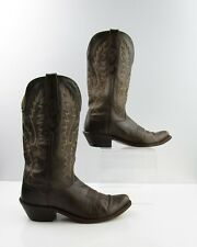 Ladies Old West Brown Leather Cowboy Western Boots Size: 7