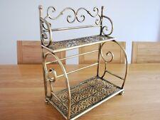 Handmade Iron French Style Bakers Stand Kitchen Rack Bathroom Shelf 002