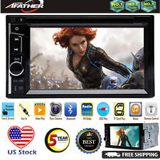 6.2'' inch 2 DIN Car Stereo Touch Screen Bluetooth FM AM USB SD AUX USA STOCK