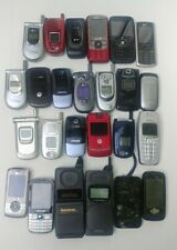Mixed Lot Of 25 Cell Phones Flip Untested -As Is For Parts/Repair Scrap Recovery