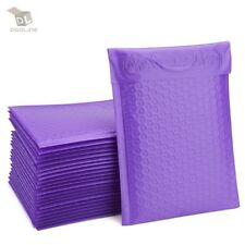 100 Purple Poly Bubble Padded Envelopes Self-Sealing Mailers 4X8 (Inner 4x7)