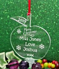 Personalised Teacher / Classroom Assistant Christmas Apple Gift