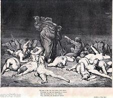 INFERNO: PUNIZIONE DEI GOLOSI. CIACCO. Gustave Doré. Dante. Divina Commedia.1880