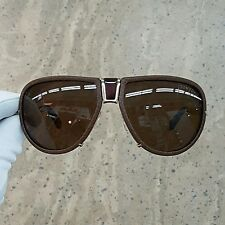 Tom Ford Humphrey TF249 05j Brown Leather Aviator Sunglasses Italy