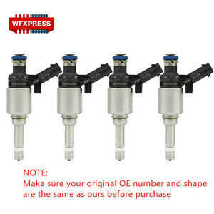 4x Fuel Injectors For Bosch Audi A4 A3 A5 TT VW T5 Eos CC 2.0L Turbo 0261500076