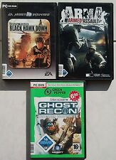 Arma ARMED ASSAULT + DELTA FORCE BLACK HAWK DOWN + Ghost Recon GIOCHI PC