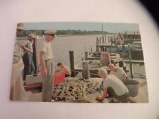 VINTAGE POSTCARD A DAY,S CATCH AT LITTLE RIVER DOCKS MYRTLE BEACH SC COKE COO;ER