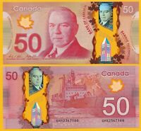 Canada 50 Dollars p-109b 2012 UNC Polymer Banknote