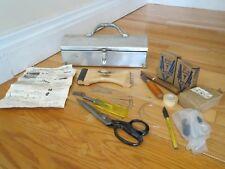 Vintage Original Osborne Wiss Grumbacher Furniture Upholstery Leather Tools kit
