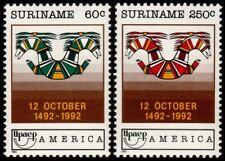 ✔️ SURINAM 1992 - UPAEP AMERICA 500 YEARS - MI. 1420/1421 ** MNH OG [101.002 ]