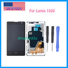 Black For Nokia Lumia 1020 LCD Screen Touch Replace Digitizer Assembly Frame +T