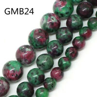 Natural AAA+ Epidote Zoisite Tourmaline Color Stone Beads For Jewelry Making DIY