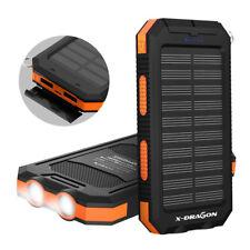 300000mAh 2USB Waterproof Solar Battery Charger External Power Bank For Phone