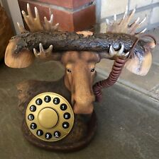 Woodland Moose Telephone  - New Unique Retro Style Phone