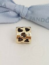 Authentic Pandora 14k Gold Diamond 'Soulmate' Hearts Charm 750275D  - Retired