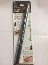 MILANI Eye Tech Define 2- In -1 Brow + Eyeliner Felt Tip Pen - Black /Dark Brown