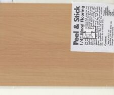 """Oak"" Peel & Stick Plastic Flooring Sheet - 1/12 scale MBS WF12OK  6""x11"""