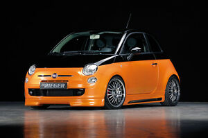 Rieger Spoilerlippe Lippe passend für Fiat 500 / NEU / 00056060 RIEGER-Tuning