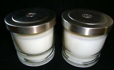 2 COLONIAL CANDLE CO MINNESOTA USA SUMMER LINEN White JAR CANDLES  5.5 oz each